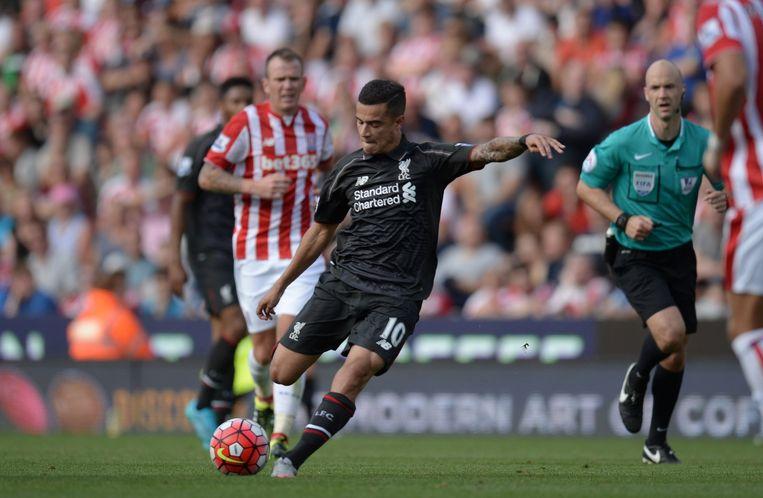 Coutinho trok Liverpool met een knappe flits over de streep uit bij Stoke