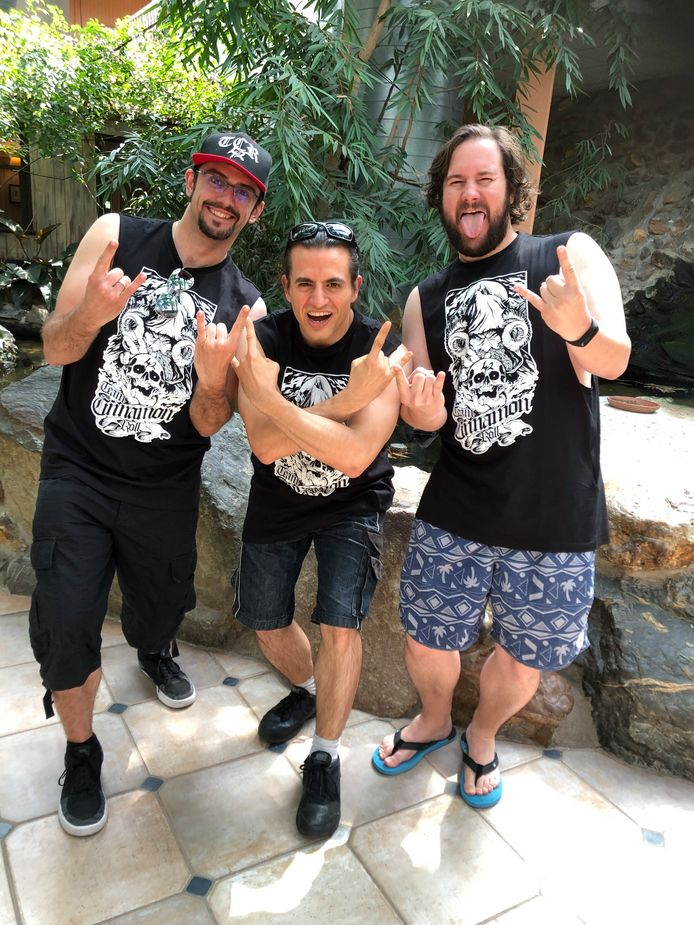 De Spaanse 'Graspoppers' Javier, Nigo en Daniël arriveerden maandag al in SunParks.