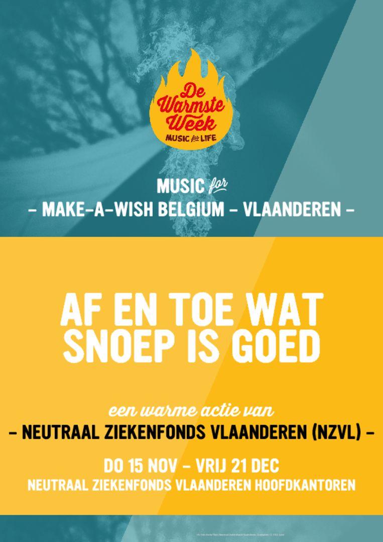 Neutraal Ziekenfonds Vlaanderen verkoopt snoep voor Make A Wish.