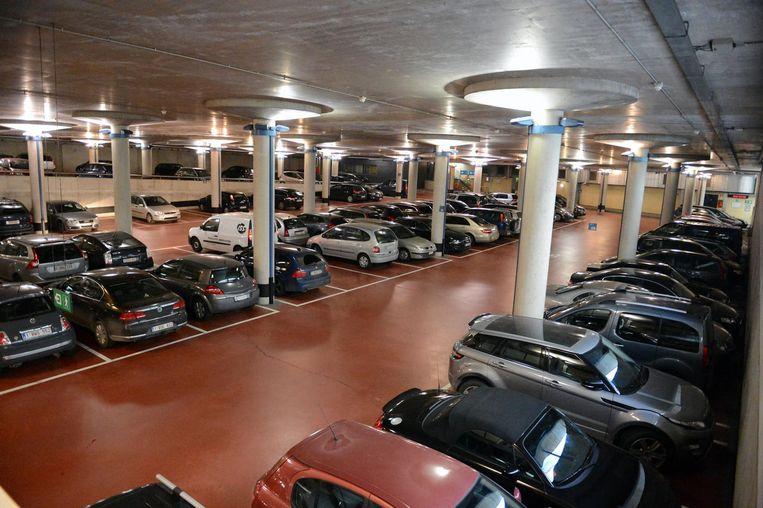 Parking De Bond onder het station van Leuven.