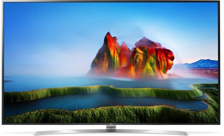 Een grote 4K-tv van het Koreaanse LG Electronics.