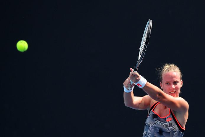 Richèl Hogenkamp strandde in de laatste horde voor het hoofdtoernooi van de Australian Open.