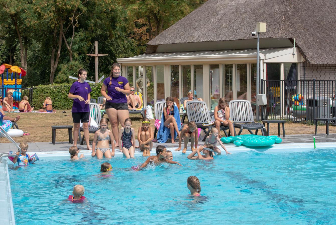 Ook op vakantiepark De Thijmse Berg is het zwembad erg in trek.