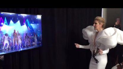 Geweldig moment: Celine Dion krijgt voltallige pers aan het zingen