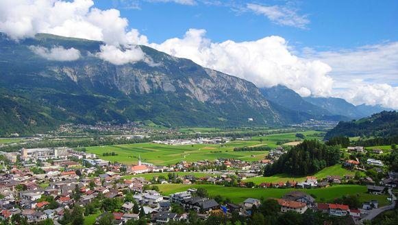 Het stadje Schwaz