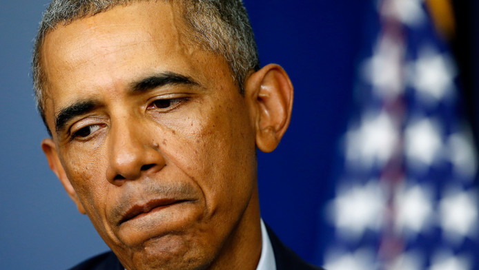 De Amerikaanse president Barack Obama spreekt over de situatie in Ferguson.