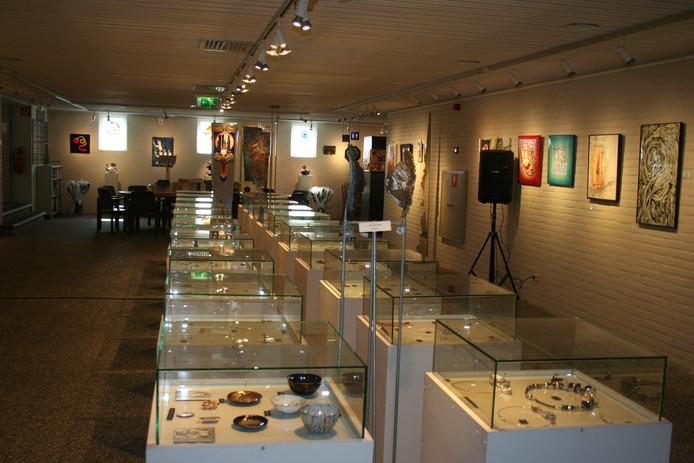 Het museum voor vlakglas-en emaillekunst in Ravenstein.