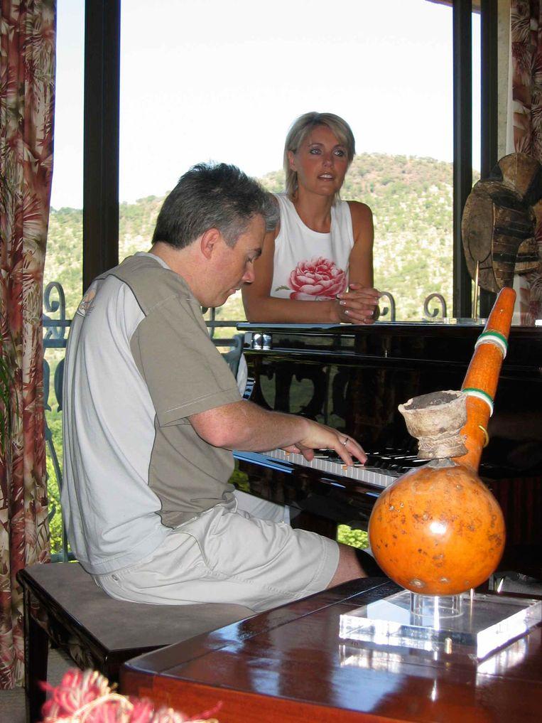 Dana Winner en haar toenmalige echtgenoot Wilfried in Zuid-Afrika.