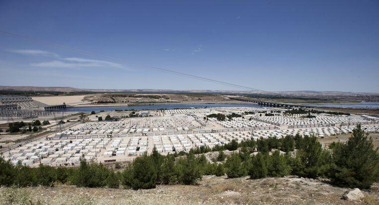 Het Syrische vluchtelingenkamp Nizip in het Turkse Gaziantep. Beeld null