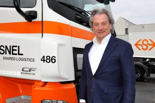 Directeur Peter de Vries van transportbedrijf Snel uit Woerden.