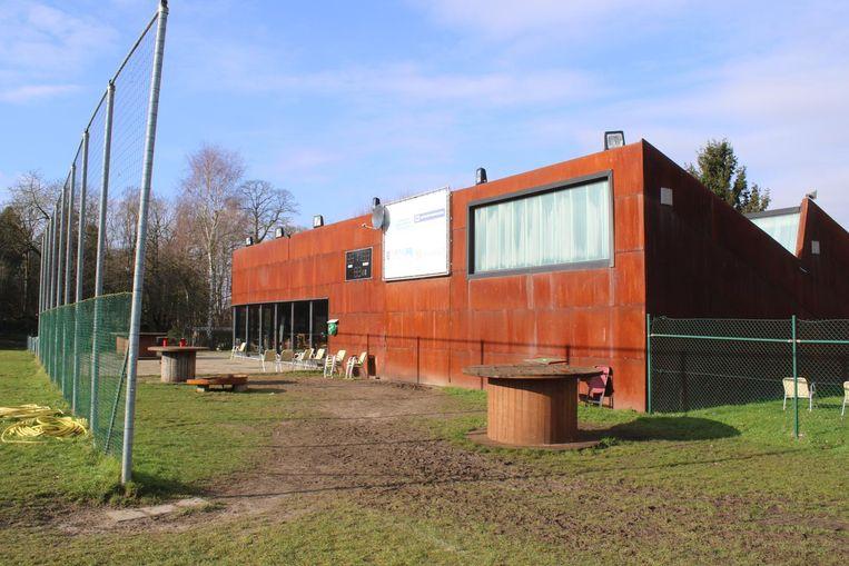 De kantine van de rugbyclub.