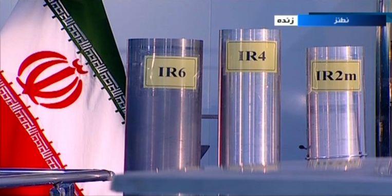 Een archiefbeeld van een fragment in een tv-programma over het nucleaire complex bij de Iraanse stad Natanz.