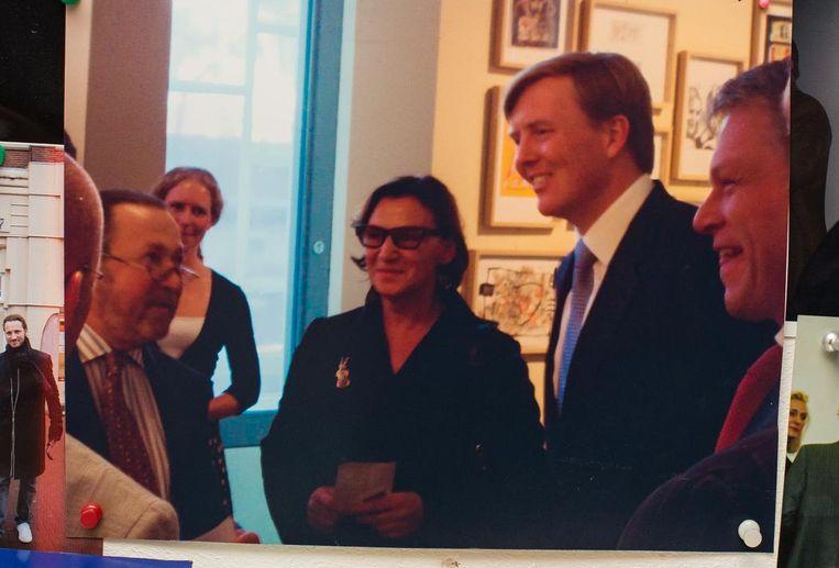 Met Willem-Alexander en Wouter Bos Beeld Mats van Soolingen