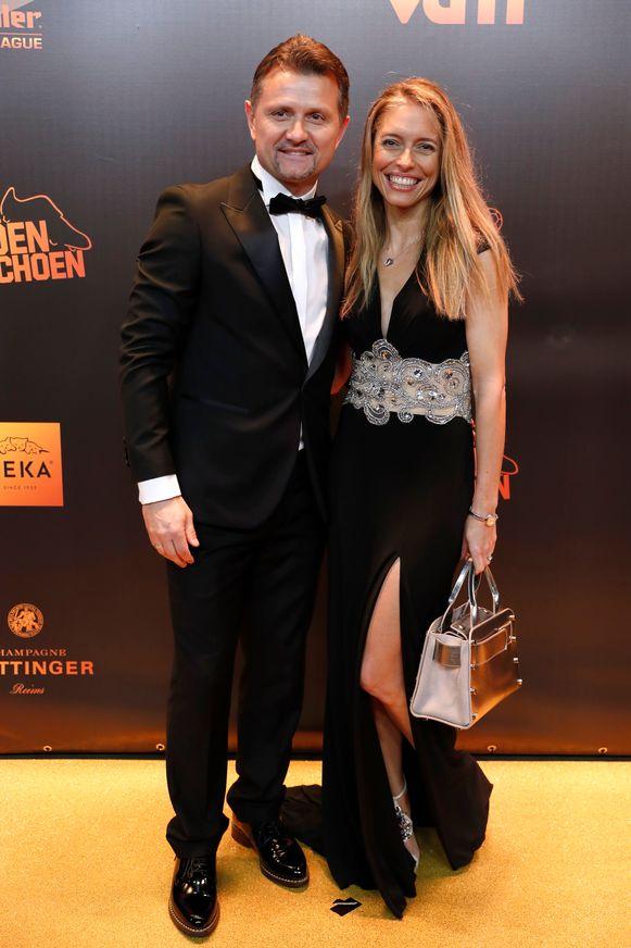 Gewezen Anderlechtspits Tomasz en Cathy Radzinski.
