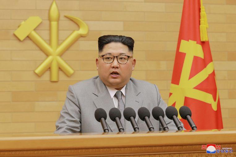 Kim Jong-Un had in zijn nieuwjaarstoespraak een mogelijke deelname aan de Winterspelen vermeld.