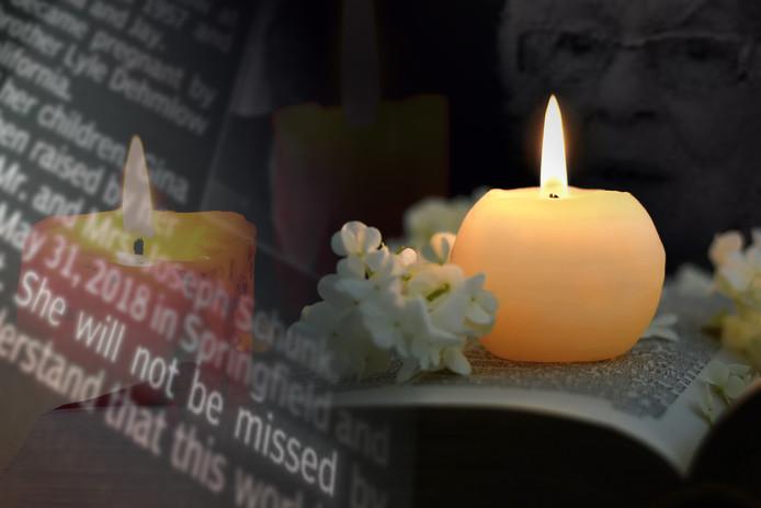 'Ze zal niet worden gemist', valt te lezen in de rouwadvertentie
