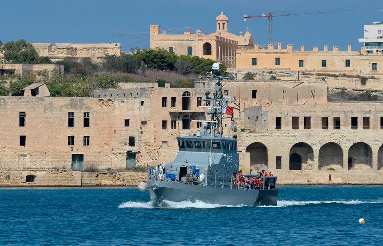 Op 30 september werden 58 migranten opgepikt en naar de haven van Floriana in Malta gebracht.