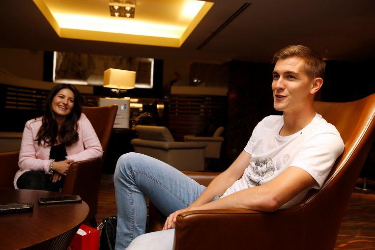 Bjorn Engels met vriendin Evangelista.