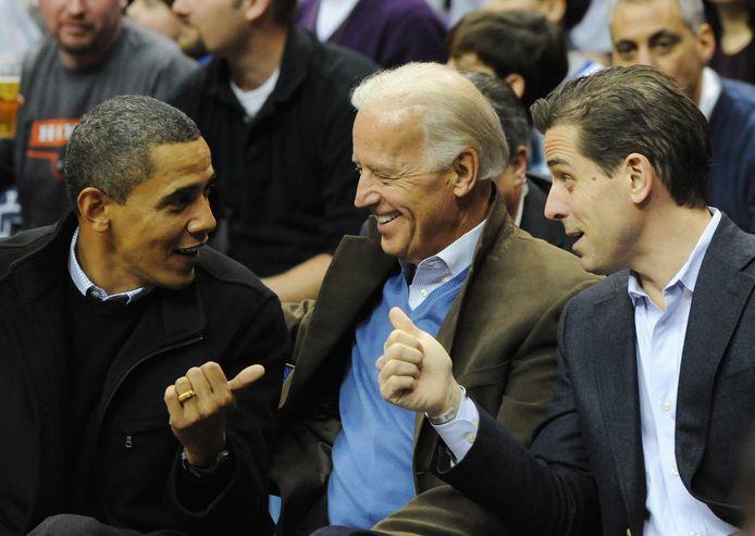 Joe en Hunter Biden in 2010 met toenmalig president Barack Obama.