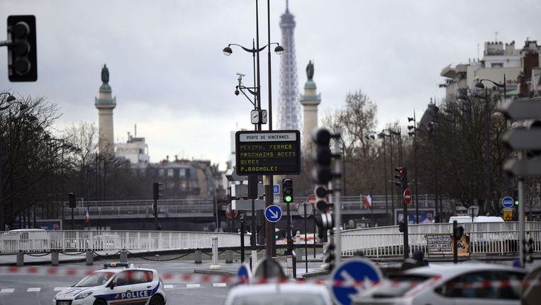 Straatbeeld van Porte de Vincennes vandaag. Beeld anp