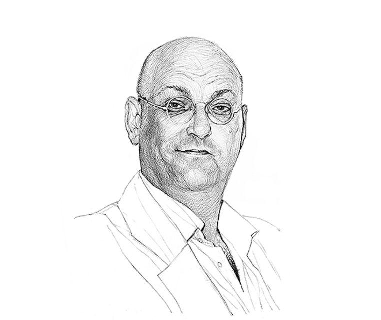 Schuimverslaggever Hans van der Beek. Beeld Artur Krynicki