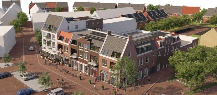 Het nieuwe winkelcentrum van woonwijk Hoef en Haag