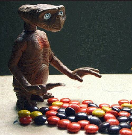 E.T. met Reese's Pieces.