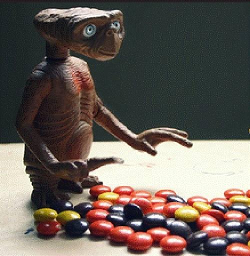 E.T. met Reese's Pieces.