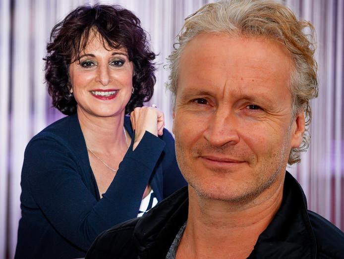 NPO-bestuursvoorzitter Shula Rijxman en RTL-programmadirecteur Erland Galjaard.