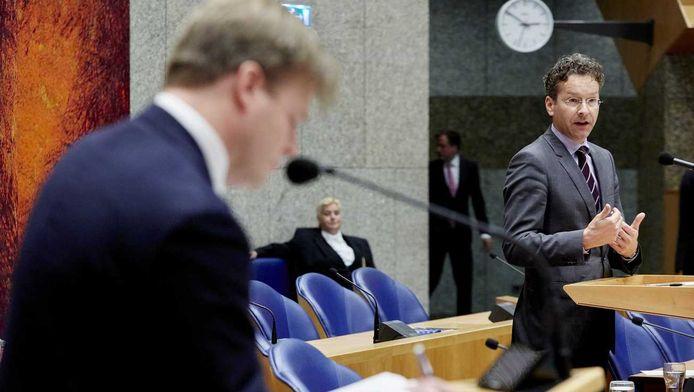 Pieter Omtzigt (CDA) en minister Jeroen Dijsselbloem
