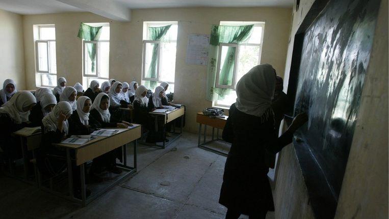 Vrouwenonderwijs in Afghanistan. Beeld epa