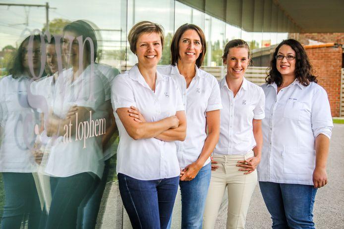 De vier gynaecologen openen samen groepspraktijk Gyn at Lophem.