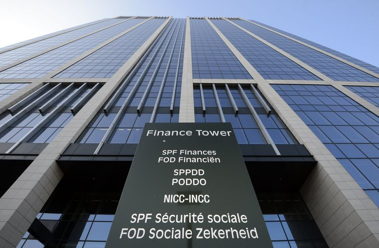 De Finance Tower in Brussel, waar de FOD Financiën gevestigd is.