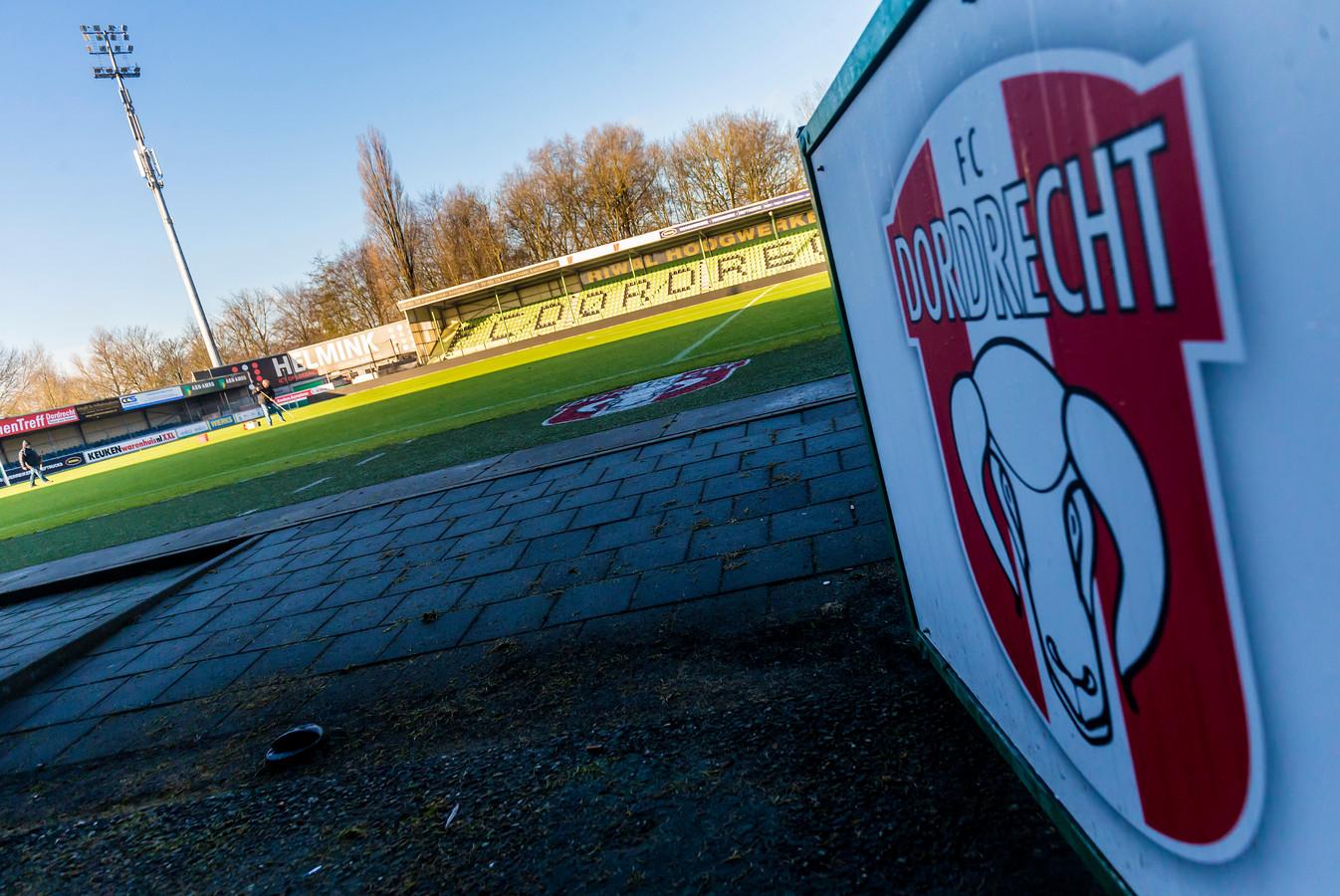 Het stadion van FC Dordrecht