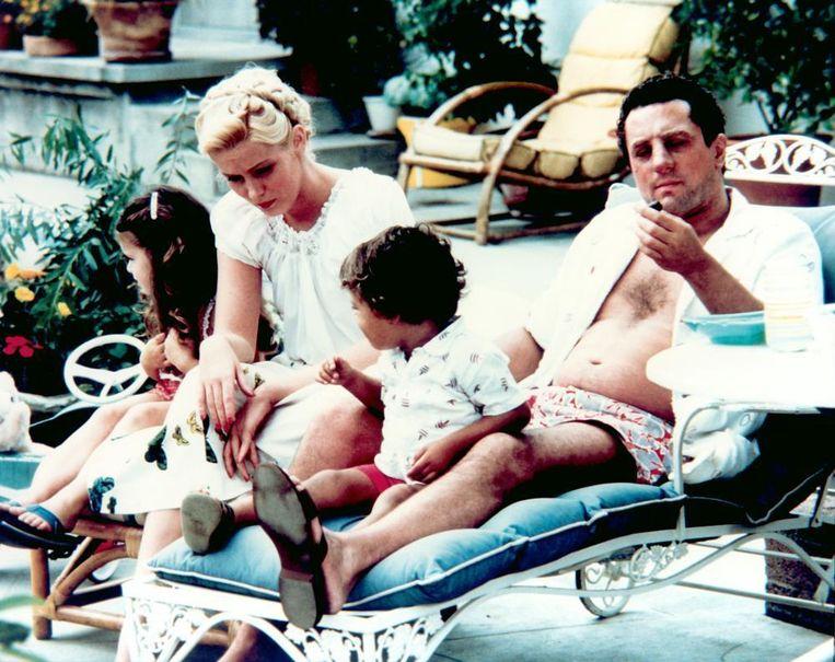 Robert De Niro als Jake LaMotta met gezin in Raging Bull. Beeld
