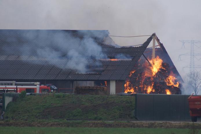 Een deel van het dak is ingestort.
