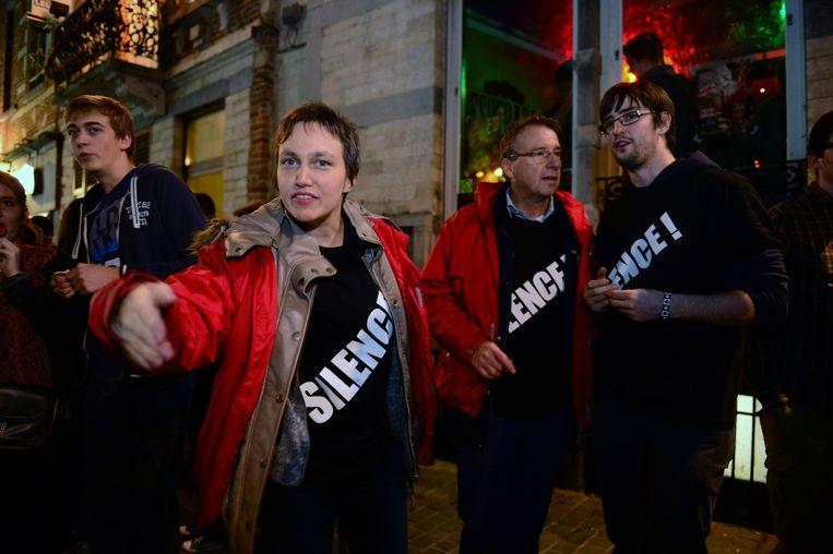 Schepen Bieke Verlinden (sp.a) ging al enkele keren mee met de overlastpatrouilles van de Leuvense politie om de rust te bewaren in het uitgaansleven.