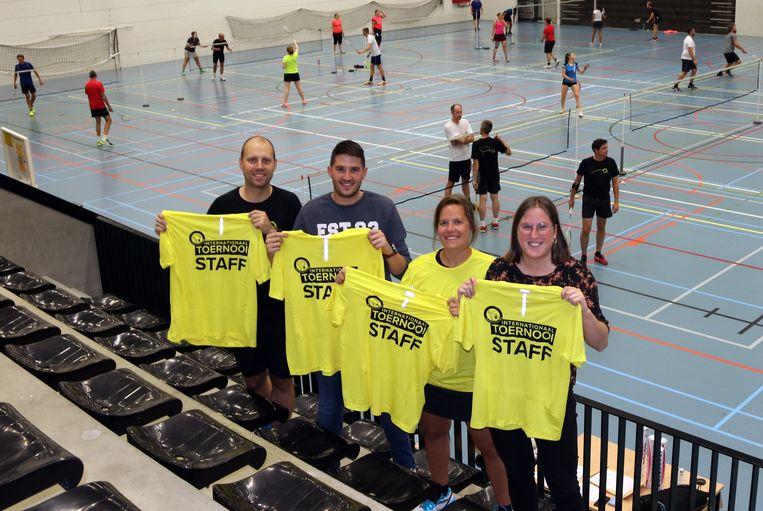 De Tieltse badmintonclub verwelkomt komend weekend 400 badmintonspelers in sporthal De Ponte