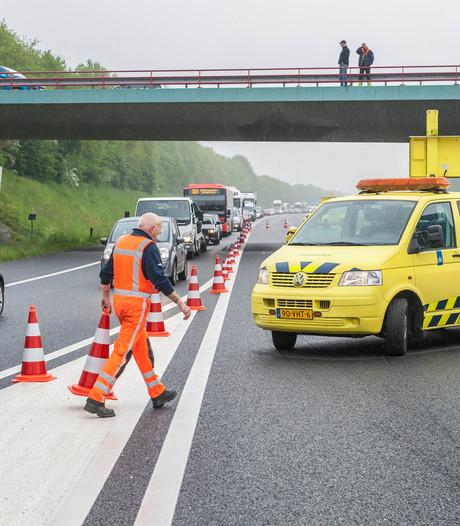 Meer files door meer ongelukken vrachtwagens