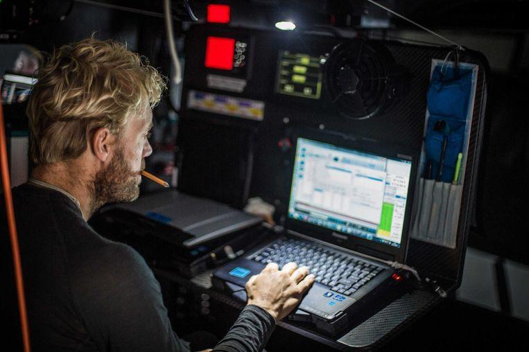 Wouter verbraak tijdens de Volvo Ocean Race 2014-15 Beeld getty