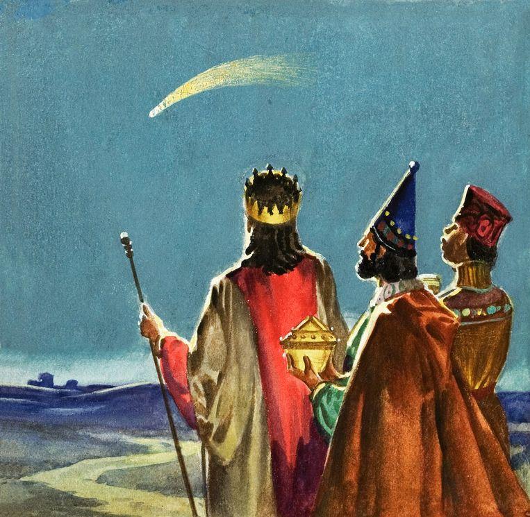 De drie Wijzen uit het Oosten met de ster van Bethlehem: verzinsel (theologen) of een beetje waar (sterrenkundigen)? Beeld .