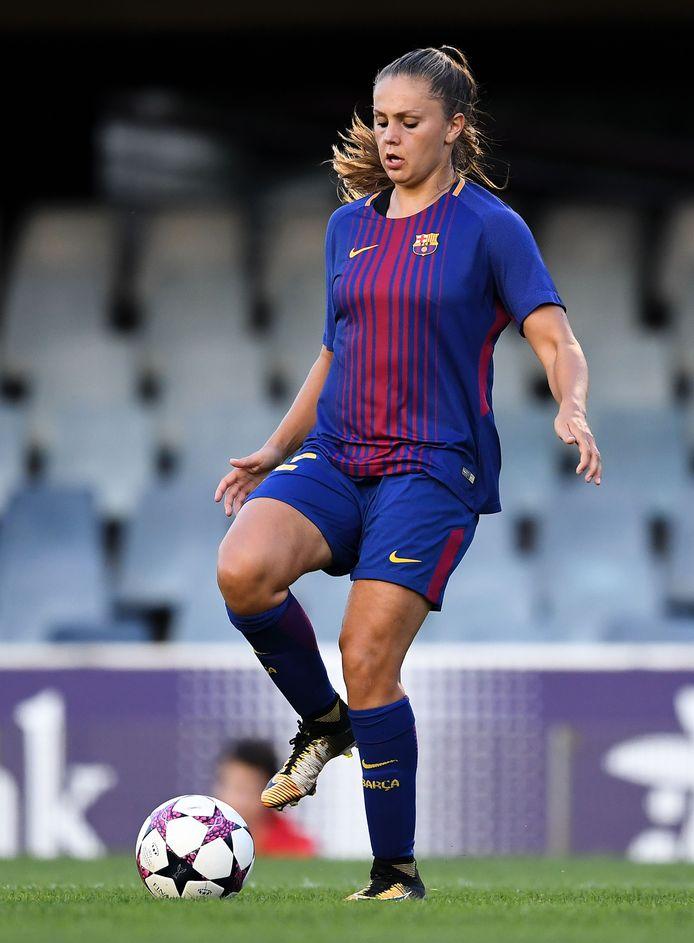 Lieke Martens in actie namens FC Barcelona.