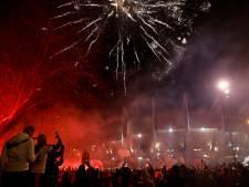 Duizenden PSG-fans verzamelen zich bij  Parc des Princes