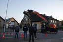 Huis stort in na rioleringswerkzaamheden in Made.