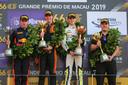 Het podium bij de Grand Prix van Macau.