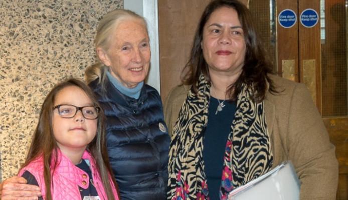 Lilly Platt (10) uit Huis ter Heide ontmoette Jane Goodall ook al eens in maart.