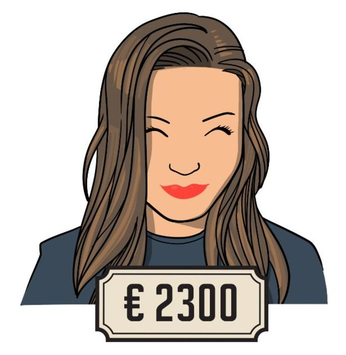 Elsemieke verdient 2300 euro bruto per maand en werkt fulltime.