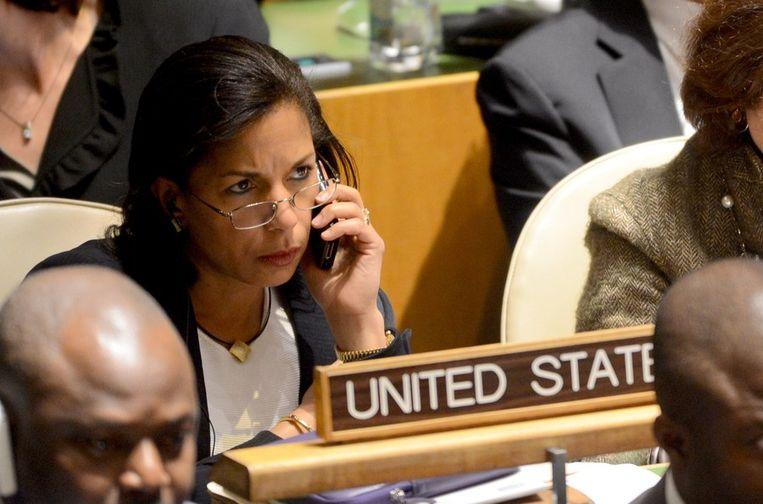 De Amerikaanse VN-ambassadrice Susan Rice. Beeld afp