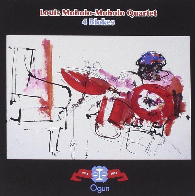 Hoes van laatste cd, met schilderij van Moholo-Moholo door Gina Southgate. Beeld Ogun