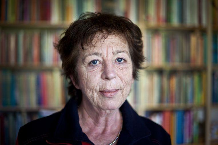 Schrijfster Renate Dorrestein in haar schrijfkantoor aan huis in Aerdenhout. Beeld ANP